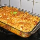 This picture does not do this justice - a pasta casserole with polish sausage - yum!