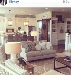 Love this living room decor and open room