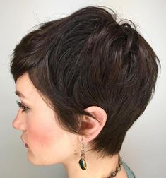 Brunette Pixie Hairstyle