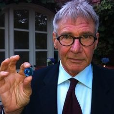 Harrison Ford has a blue marble