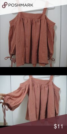Cute Korean Off-the-Shoulder Top Bought it from a Korean website. Never worn. No tag. Freesize (XS-S). Tops Camisoles