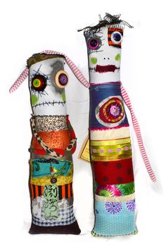 Diane Slagle's monster rag dolls