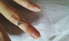 Anel símbolo do infinito em aço