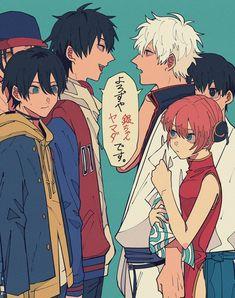 ヒプノシスマイクと銀魂のクロスオーバーネタです!結構共通点とか多いんだよね~😁 Anime Crossover, Rap Battle, Art Archive, Manga, Doujinshi, Art Reference, Anime Art, Comic Books, Fan Art