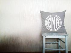 Monogram pillow decorative throw pillow cover monogrammed pillows Outdoor pillow throw pillow monogrammed pillow cover 24x24 inches pillow