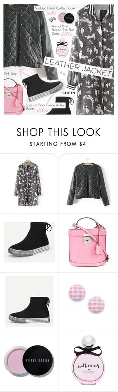 """Cool-Girl Style: Leather Jackets"" by pokadoll ❤ liked on Polyvore featuring Mark Cross, Bobbi Brown Cosmetics and Kate Spade"