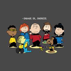 Peanuts: Next Generation Snoopy Love, Charlie Brown And Snoopy, Snoopy And Woodstock, Morbider Humor, Geek Humor, Star Trek Books, Star Trek Series, Star Trek Party, Star Trek Generations