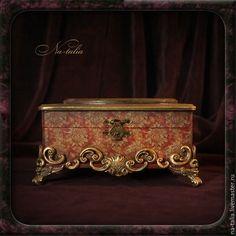 Купить Шкатулка Борджиа - шкатулка для украшений, шкатулка декупаж, шкатулка ручной работы, шкатулка с портретом