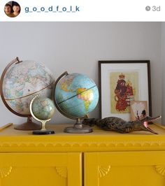 Globemakers - Creators of high quality, beautiful handmade terrestrial and celestial world globes. Combining traditional techniques with pioneering design : Bellerby and Co, London Desk Globe, Instagram Names, World Globes, Travel Route, Travel Magazines, Lost Art, Hand Cast, Cartography, Hand Engraving