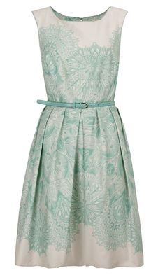 Primark mint print prom dress