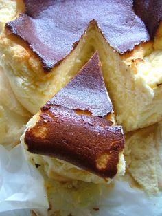Gâteau aérien au fromage blanc.
