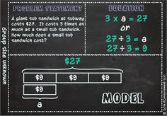 Great Visual Product to guide students' use of multiplication and division to solve word problems involving multiplicative comparison. This product will effectively guide your students to use a visual model to interpret a multiplicative comparison. It will help your students transfer their concrete understanding of number sense to the abstract. Less Procedures/More Critical Thinking!!!