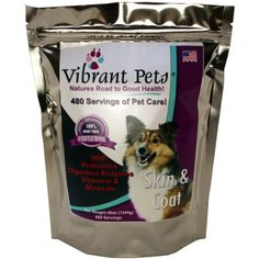 Vibrant Pets HighQuality Skin and Coat Diet Supplements Original Premium Dog Coat Supplement and Dog Skin Supplement Powder with Probiotics Natural Ingredients 480 servings *** You can get additional details at the image link. (This is an affiliate link) Grain Free Cat Food, Cat Food Brands, Best Cat Food, Pet Supplements, Wet Dog Food, Raw Food Diet, Dog Coats, Dog Supplies