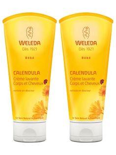 Weleda Calendula Body and Hair Wash 2 x 200 ml Calendula Oil, Baby Shampoo, Natural Cosmetics, Mineral Oil, Little Babies, Fragrance, Voici