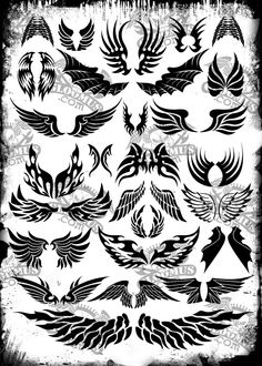 vector tattoo wings