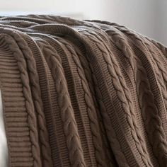 Love giving chocolate on Valentine's Day? Give the gift of chocolate in our 100% organic cotton cozy cable knit throw.