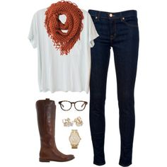 A fashion look from February 2014 featuring Clu t-shirts, J Brand jeans and Frye boots. Browse and shop related looks.
