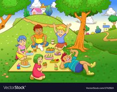 Find Picnic File Simple Gradients No stock images in HD and millions of other royalty-free stock photos, illustrations and vectors in the Shutterstock collection. Thousands of new, high-quality pictures added every day. Picnic Images, Picnic Pictures, Composition D'image, Picture Comprehension, Kindergarten Anchor Charts, Pop Art Drawing, English Lessons For Kids, Borders For Paper, Teaching Aids