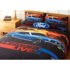 Ford Mustang The Legend Lives Quilt Cover Set Single Double Queen King