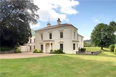 Regency home. 7 Bedroom Premium Property in The Street, Poynings, Brighton, White Exterior Houses, Modern Farmhouse Exterior, Dream House Exterior, White Houses, House Cladding, Facade House, Style At Home, Facade Design, House Design