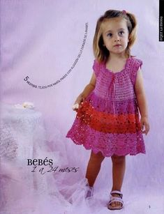 Every Modern: Children's crochet dress with graphic and recipe