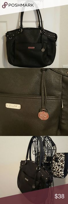 New Large Black Grace Adele Purse Gorgeous large purse with lots of silver accents. 13x15x3. Grace Adele Bags Shoulder Bags