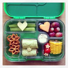 Check out this Yumbox's designers page at https://www.facebook.com/munchboxminiofficial for some great  inspiration.  Www.yumbox-uk.co.uk   Children, kids, lunchbox,healthy eating,fussy children, toddlers, packed lunch