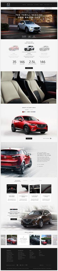 The website redesign of Mazda USA Website Design Layout, Web Layout, Layout Design, Template Web, Responsive Web Design, Website Design Inspiration, Ad Design, Design Ideas, Interactive Design
