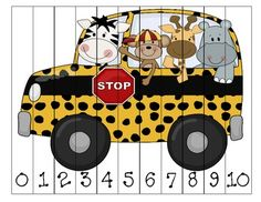 Jungle Numbers 0-10 Sequencing Puzzle
