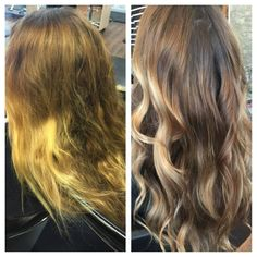 Allison wanted to bring her hair back to life, and Kristina is the perfect stylist to do this for her. She darkened her ombré using shades EQ gloss to give her a more natural look. Trimmed her ends and styled her hair using Redken full frame volumizing mousse to help give it all day body and hold!  Reserve today with Kristina at 703-327-9408 for your beautiful new look or visit http://eclipsashburn.com.