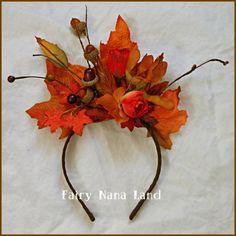 Fall Headband Woodland Fairy Headpiece by FairyNanaLand on Etsy, $15.00