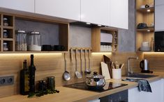 Кухня с деревянной столешницей Kitchen Cabinets, Home Decor, Restaining Kitchen Cabinets, Homemade Home Decor, Kitchen Base Cabinets, Interior Design, Home Interiors, Decoration Home, Home Decoration