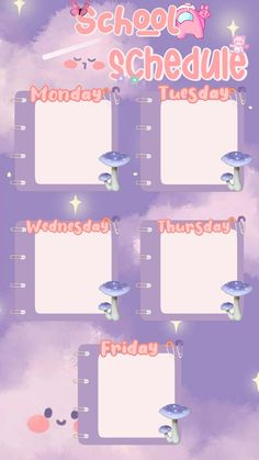 Flower Background Design, Timetable Template, Weekly Planner Template, Aesthetic Template, Instagram Frame Template, Bullet Journal Lettering Ideas, Photo Collage Template, Templates, Anime Schedule