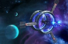 Jump Gate To Anuradha Prime 20$ for creating One Desktop Image #planet #art #starship #space #gate
