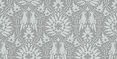 Renaissance (BP 2808) - Farrow & Ball Wallpapers - Renaissance is an enchanting pictorial print bursting with sunflowers, love birds and exquisite botanical detailing. Shown here in pale blue on grey water based paints - more colours are available. Please request a sample for true colour match.
