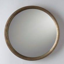 Higgins Mirror, Natural Brass, Brass, Glass