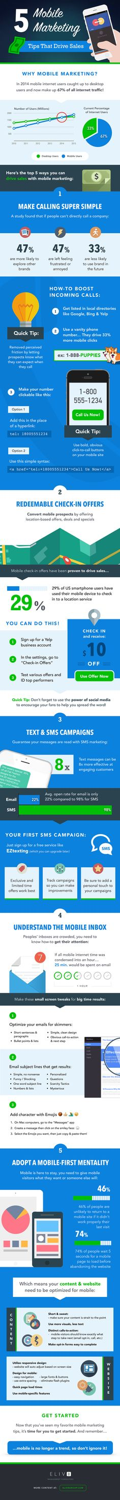 5 Mobile Marketing Tips That Drive Sales (Infographic)