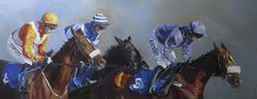 'Stalking Horses' oil on canvas 19 x 48 inches