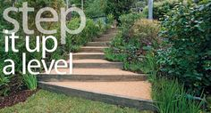 Rise above that slippery slope in your garden by installing this charming, easy-to-build staircase.