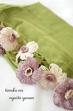 オヤ,ストール,トルコ,かぎ針編み,トゥーオヤ,かわいい,お花,