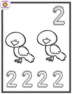 Preschool Number Worksheets, Flashcards For Kids, Teaching Numbers, Numbers Preschool, Writing Numbers, Preschool Math, Worksheets For Kids, Teaching Activities, Teaching Kids