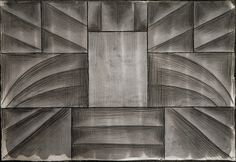 Erwin Keustermans 11 aligned rectangular shapes (imaginary sheets) with gradations in a bilateral symmetry