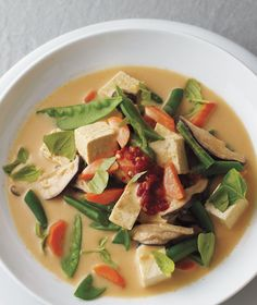 Thai Curry Vegetable and Tofu Soup | RealSimple.com