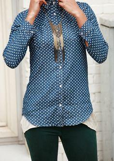 Denim met stippen en gekleurde skinny jeans