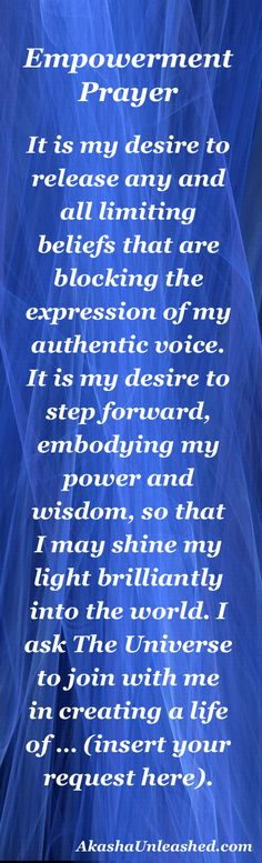 You are more powerful than you know. Use this prayer to set your intentions and open the way for The Universe to respond. Akashic Records Wisdom, Empowerment.
