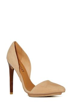 Shoe Cult Nicole Pump - Nude - Pumps |  | Back In Stock | Going Out Sale |  | Shoes