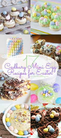 These are 17 of the best Cadbury Mini Eggs recipes from around the internet. P… Dies sind 17 der besten Cadbury Mini Eggs Rezepte aus dem Internet. Mini Egg Recipes, Easter Recipes, Holiday Recipes, Easter Baking Ideas, Cadbury Recipes, Cupcake Recipes, Holiday Ideas, Holiday Fun, Dinner Recipes