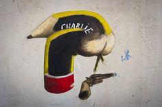 Philippe Herard #streetart #JeSuisCharlie