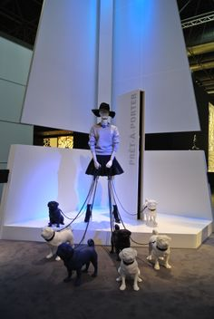 EUROSHOP 2014. EURO DISPLAY Female and dog mannequins