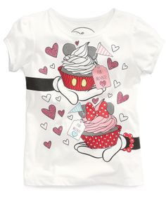 Mighty Fine Little Girls' Minnie Mouse Graphic Tee - Kids CLEARANCE - Macy's